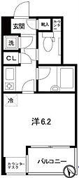 東京メトロ銀座線 日本橋駅 徒歩7分の賃貸マンション 5階1Kの間取り