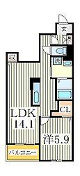 ニュー カーサ[1階]の間取り
