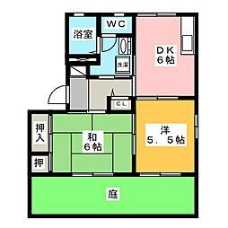 サザンウィング[1階]の間取り