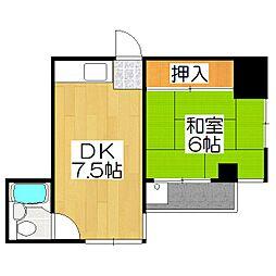 メタボ岡崎[407号室]の間取り