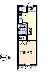 コーポ秀山[103号室]の間取り