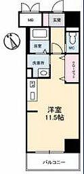 JR高徳線 栗林公園北口駅 徒歩6分の賃貸マンション 3階ワンルームの間取り