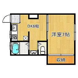 ニュー高井田マンション[402号室]の間取り