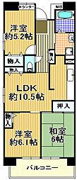 シティーコート千島[4階]の間取り