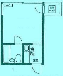 松宮ハイツ二子[2階]の間取り