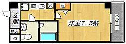 エレーヌ十三[802号室]の間取り