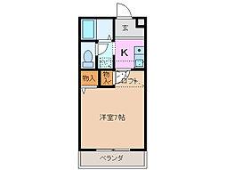 プラザコート西富田[2階]の間取り