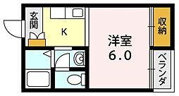 シンセイドルフ[3IO号室号室]の間取り