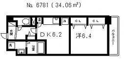 M's上町台[2階]の間取り