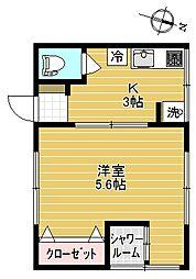 東京都豊島区西巣鴨1丁目の賃貸アパートの間取り