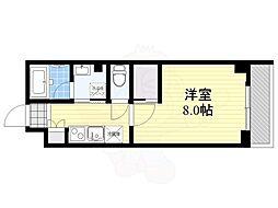 グランディール渋谷神泉 地下1階1Kの間取り
