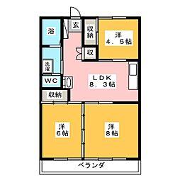 高橋マンション[5階]の間取り