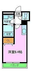 南海高野線 狭山駅 徒歩2分の賃貸アパート 1階ワンルームの間取り