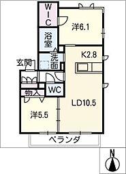 ルコネッサンス[1階]の間取り