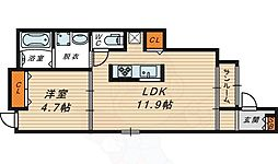 メゾン ド ソレイユ 1階1LDKの間取り