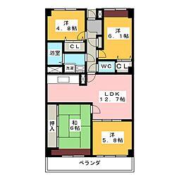 シティファミリー八事S棟[4階]の間取り