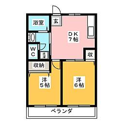 Sアパート[1階]の間取り