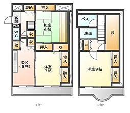 ランドマーク21[3階]の間取り