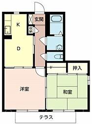 メゾンボナール[1階]の間取り