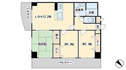 第壱上野マンション[203号室]の間取り