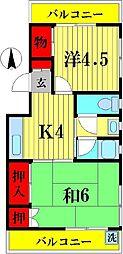 コーポ幸[3階]の間取り