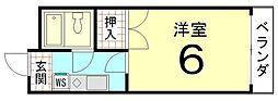 グレース紫竹[205号室]の間取り