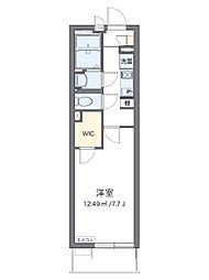 JR相模線 社家駅 徒歩3分の賃貸アパート 1階1Kの間取り