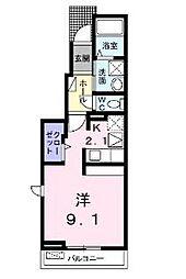 アプリコット III[1階]の間取り