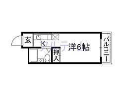 アンデス東寺[5階]の間取り