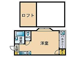 Eステーションハウス[2階]の間取り