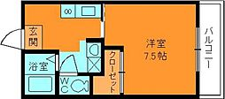 奈良県生駒郡三郷町立野南2丁目の賃貸マンションの間取り