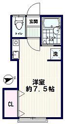 AZUMI-SOU(アズミソウ)[102号室]の間取り