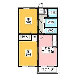 プリティベアー A[1階]の間取り