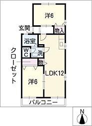 トランキル長田[2階]の間取り