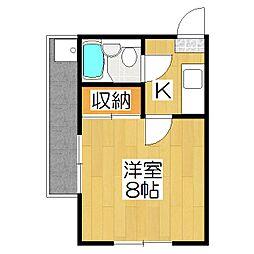 りぶ京都北山[103号室]の間取り
