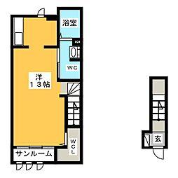 シャルマン藍[2階]の間取り