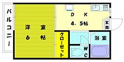 福岡県福岡市東区高美台2丁目の賃貸アパートの間取り