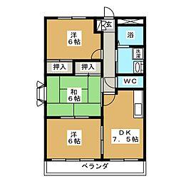 ブルースカイマンション[2階]の間取り