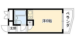 ネオダイキョー夙川[201号室]の間取り