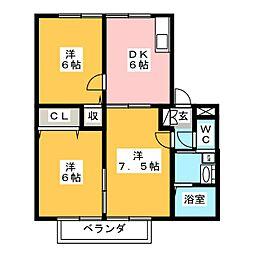 ルークス新栄[1階]の間取り