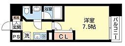 ODESSA松屋町[9階]の間取り