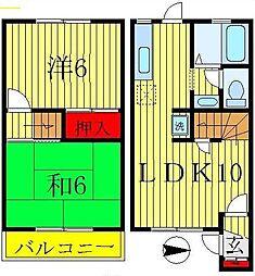 [テラスハウス] 千葉県松戸市五香西1丁目 の賃貸【/】の間取り