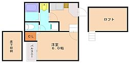コンフォートベネフィス井尻6[1階]の間取り