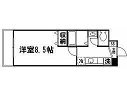 鹿苑[3階]の間取り