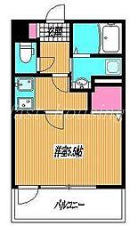 西武新宿線 上石神井駅 徒歩9分の賃貸アパート 1階1Kの間取り