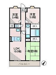 第5旭マンション[1階]の間取り