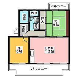 アルテハイムK[2階]の間取り