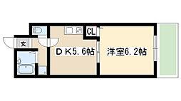 愛知県名古屋市天白区菅田1丁目の賃貸アパートの間取り