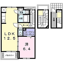 ラビアンローズ[3階]の間取り