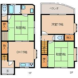 [一戸建] 奈良県生駒市小瀬町 の賃貸【/】の間取り